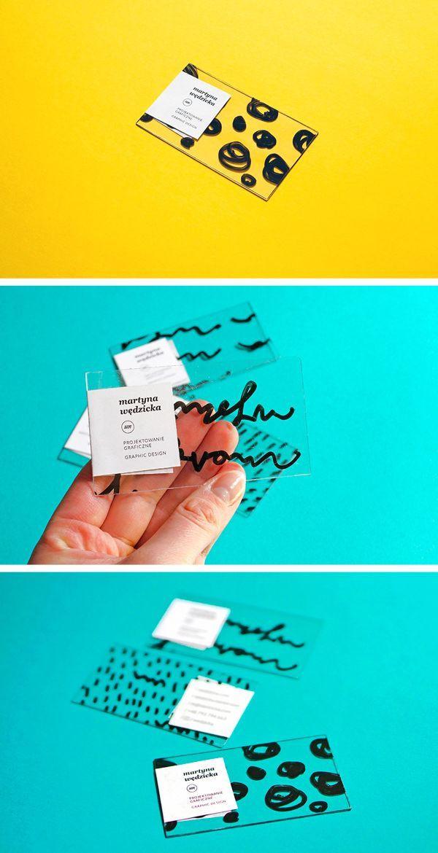 Martyna Wędzicka handmade business cards made using stickers ...