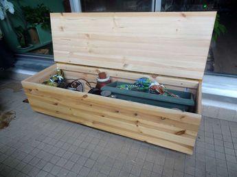 fabriquer un banc coffre diy am nagement de jardin. Black Bedroom Furniture Sets. Home Design Ideas