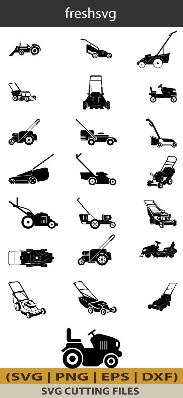 Lawn Mower Tractor Svg Lawn Mower Tractor Bundle Svg Lawn Mower Tractor Silhouette Mower Tractor Clipart Digital File Cricut Svg File Lawn Mower Tractor Tractor Silhouette Mower