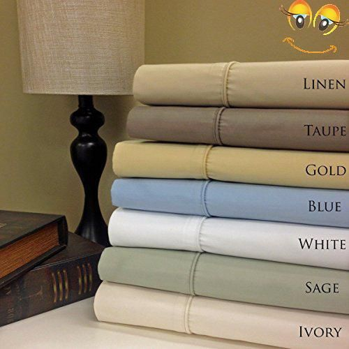Queen White 650 Thread Count Sheet Set Cotton Poly Blend Wrinkle Free Sheets