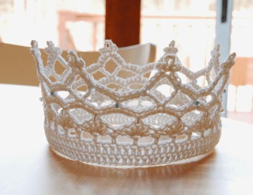 Princess Crochet Crown Free Pattern #crownscrocheted Princess Crown Crochet Pattern #crownscrocheted