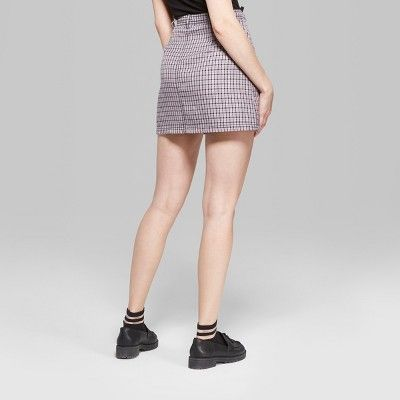 7ff4ce14f5 Women's Plaid Mini Skirt with Zippers - Wild Fable Violet S, Purple ...
