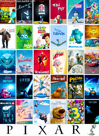 Pixar Movies And The Short Films Showed With Them Pixar - Pixar movies connected