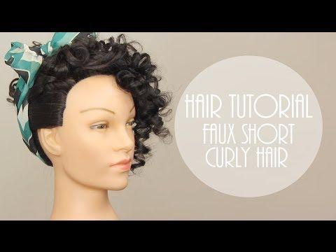 HAIR TUTORIAL FAUX SHORT CURLY HAIR YouTube Hair Pinterest - Youtube short curly hair