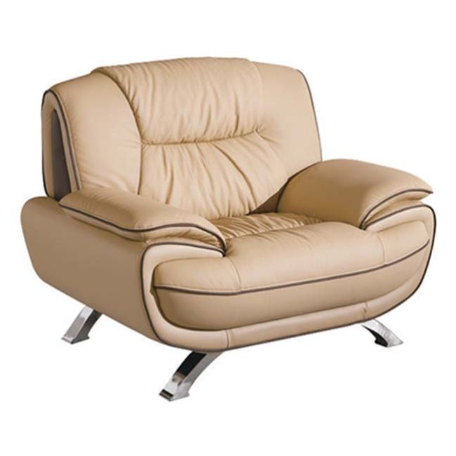 Esf Furniture Imports 4051brown 405 Arm Chair Brown Leather On