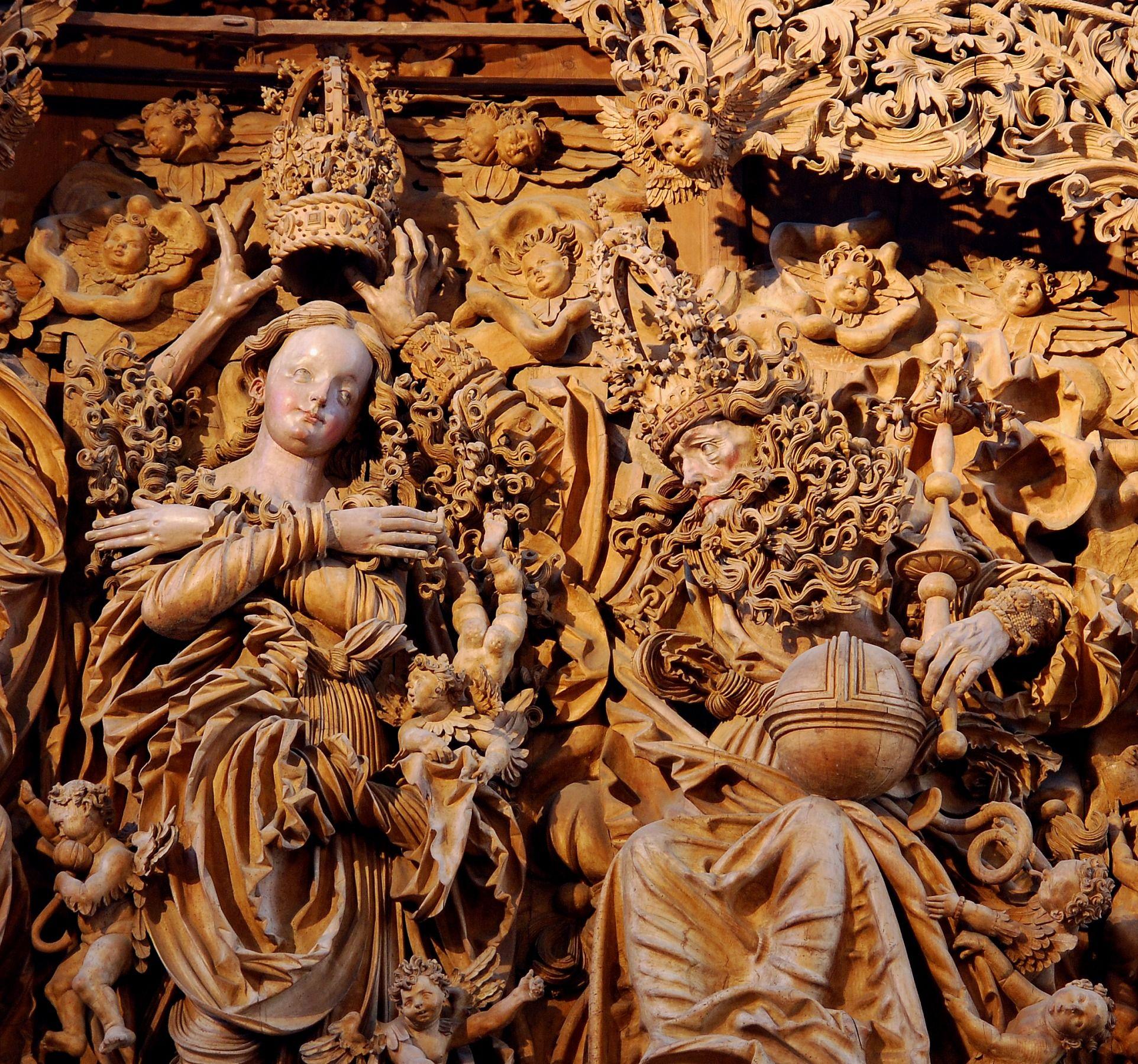 Meister H L Marienkrönung Breisacher Münster Detail Upload