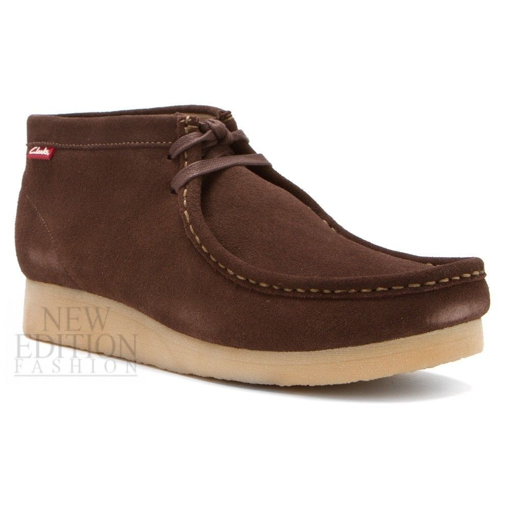 Clarks Stinson Hi Men's Wallabee Style Suede Casual Shoes 63369 Brown