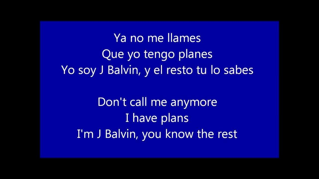 Yo Te Lo Dije J Balvin Lyrics Letra Translated Traducida English Espanol