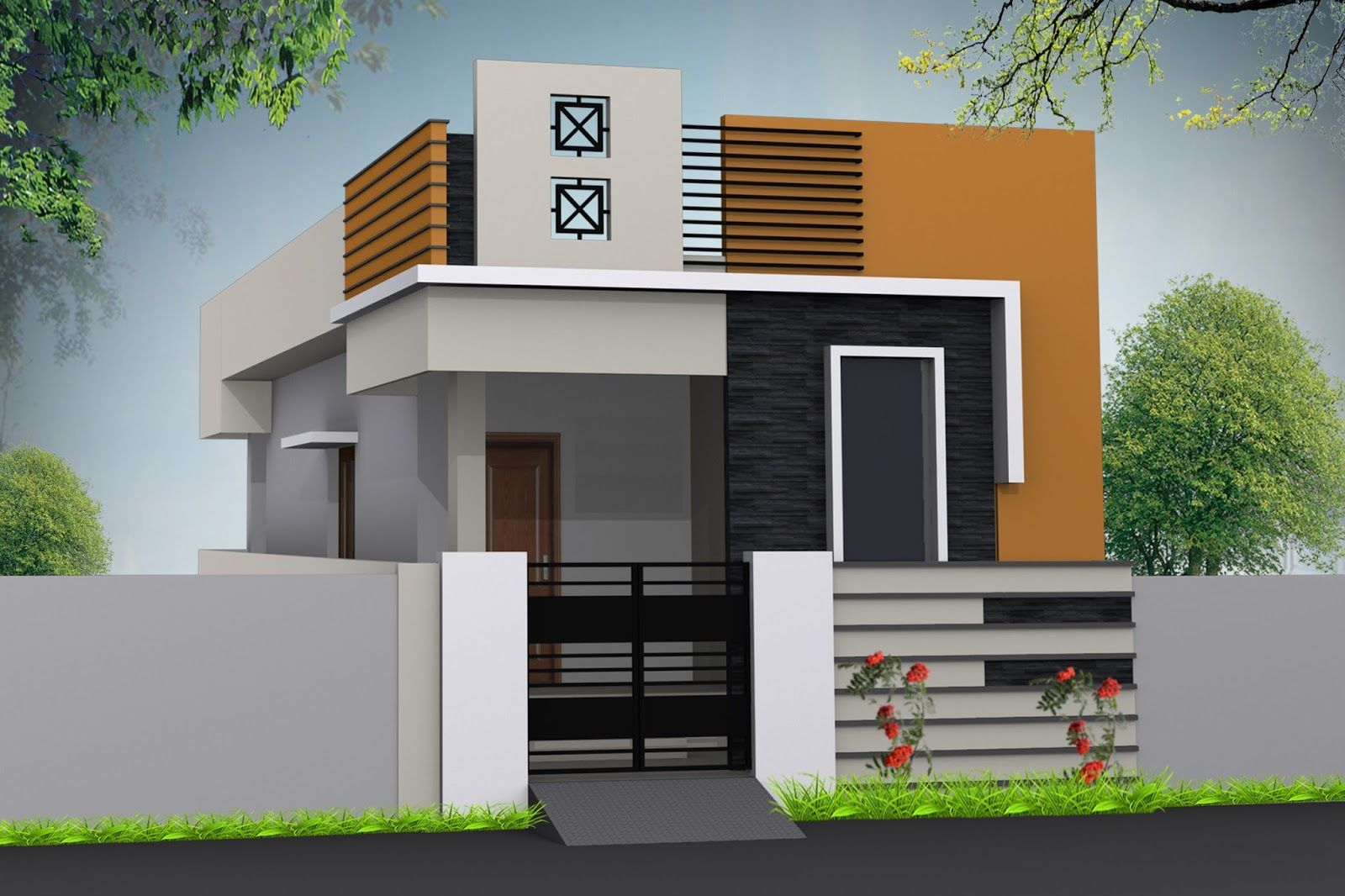 Contemporary House Elevation Single Floor: Pin By Joy Lamoste On Home In 2019