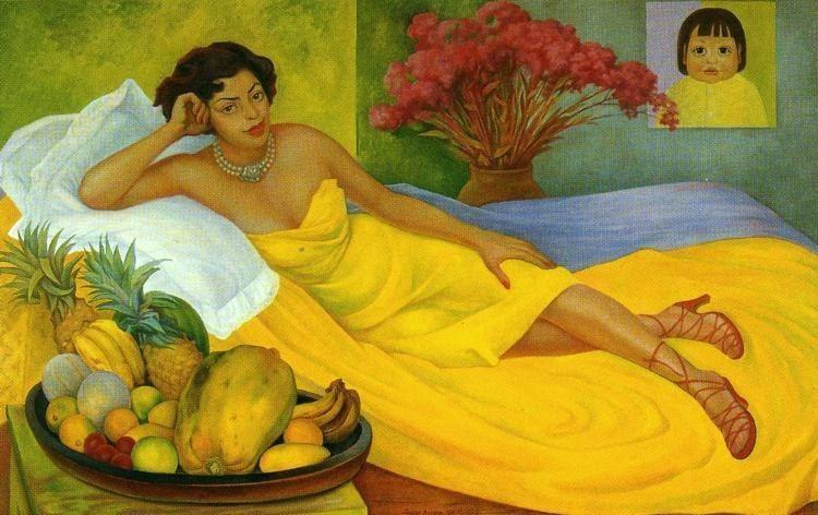 Retrato de la Sra Dona Elena Flores de Carrillo de diego rivera