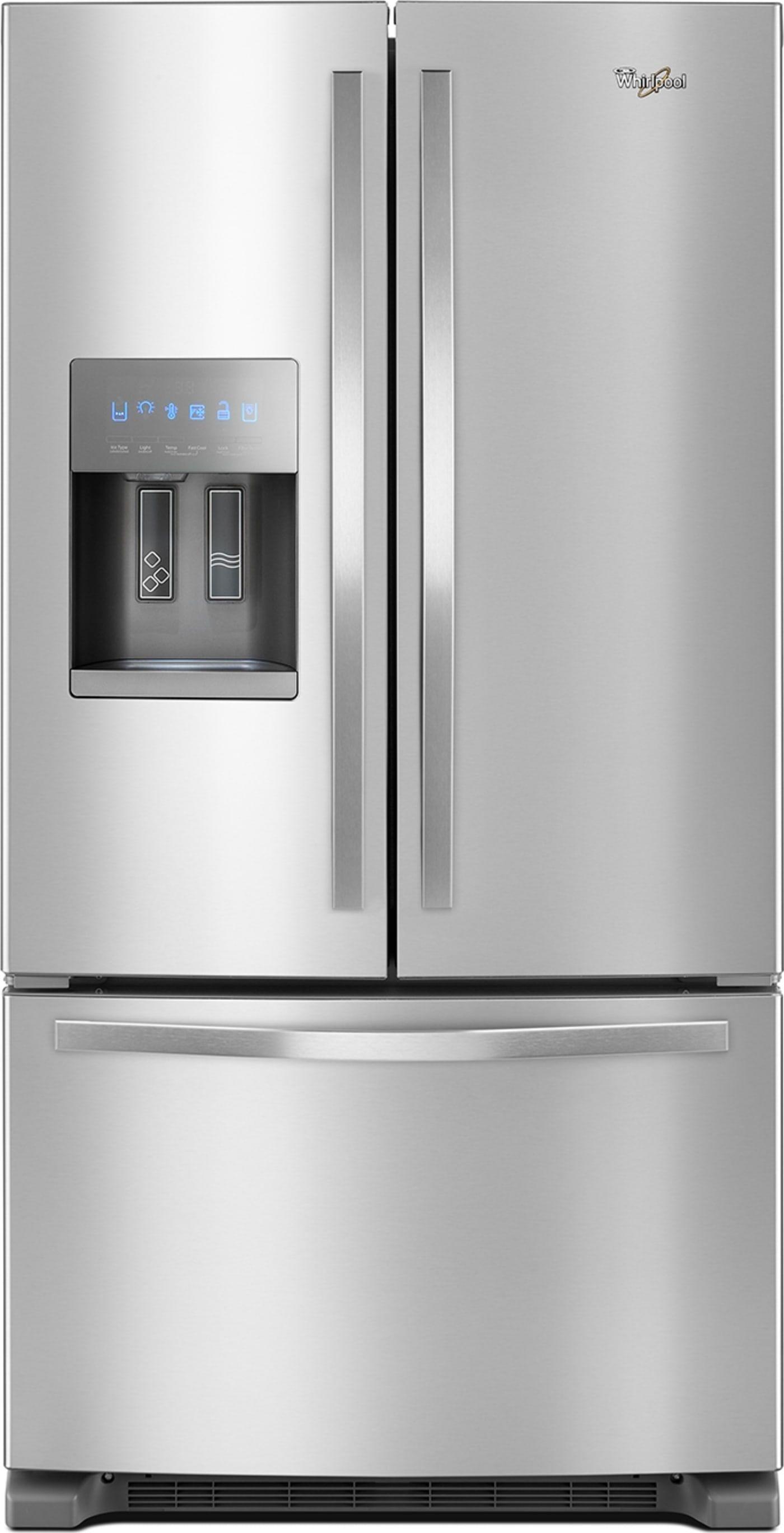 Wrf555sdfz By Whirlpool French Door Refrigerators Goedekers Com French Door Refrigerator Stainless Steel Fridge Refrigerator Whirlpool