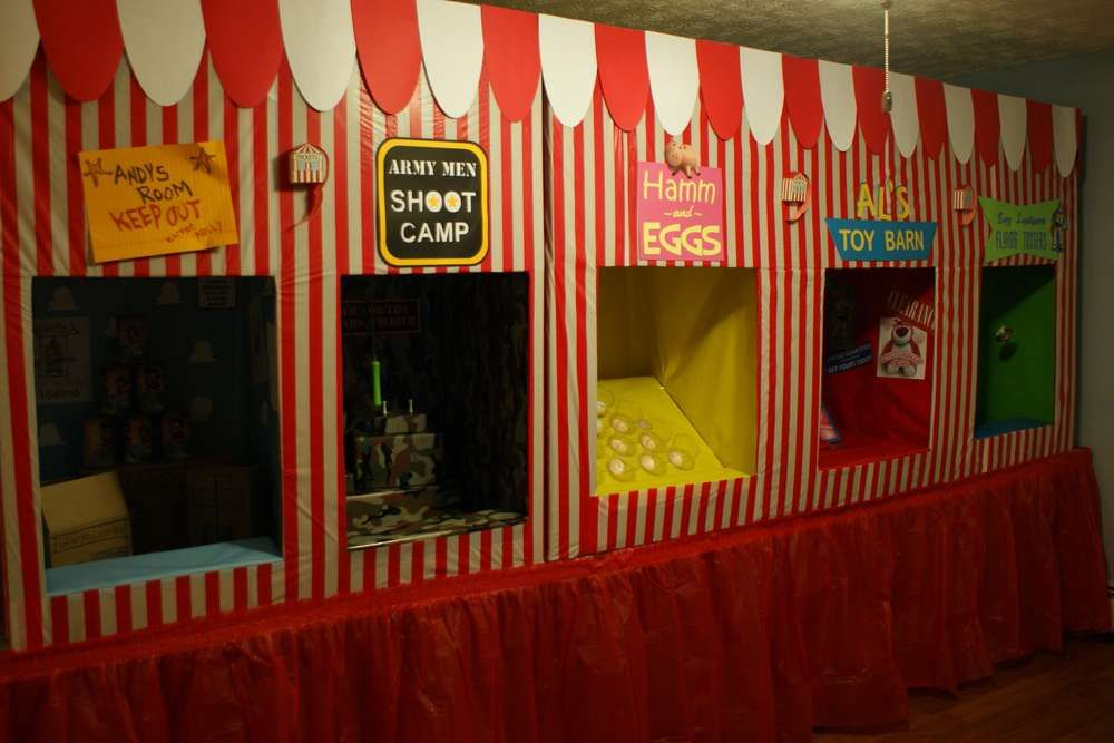 Halloween Carnival Decoration Ideas.Toy Story Midway Mania Carnival Birthday Party Ideas Photo