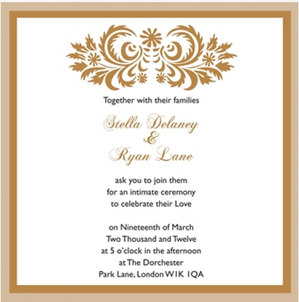 White And Gold Wedding Invitation By Ananya Cards