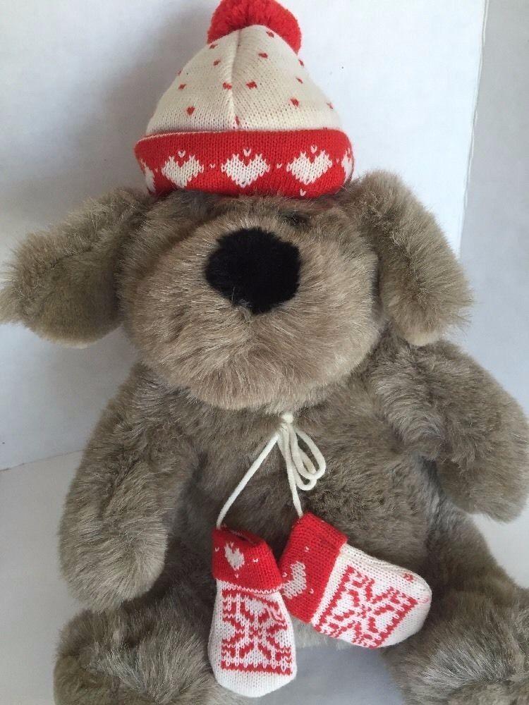 kris mutt stuffed toy winter christmas plush dog vtg target knit cap mittens target - Target Christmas Toys