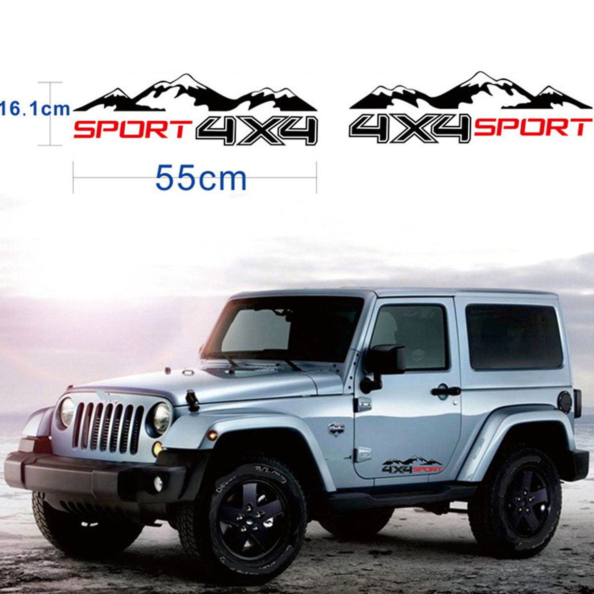 hight resolution of product off road windshield banner decal back window sticker fits jeep 4x4 mud