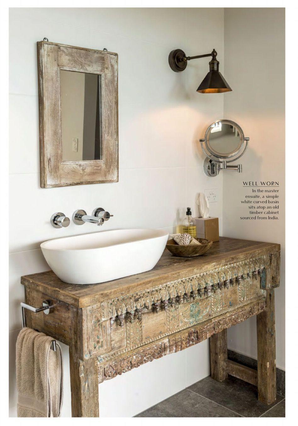 Indian Dresser As Bathroom Vanity From Queensland Homes Boho