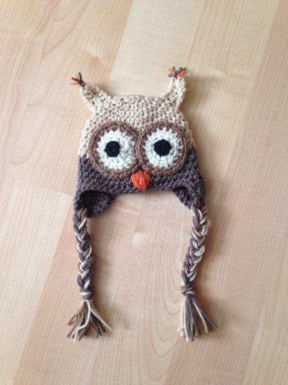 03 Month Baby Owl Crichet Hat by EmeryNoelle on Etsy | Crochet ...