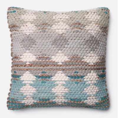 Blue and Grey Down Pillow