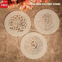 3 stuks klassieke scrapbooking tool kaart diy album maskeren gespoten tekening sjabloon stencils sjabloon pauw laser gesneden