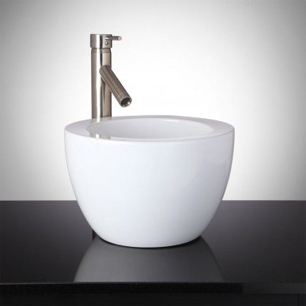 Grauer Round Vessel Sink the color of the day is white - Vessel Sinks Bathroom