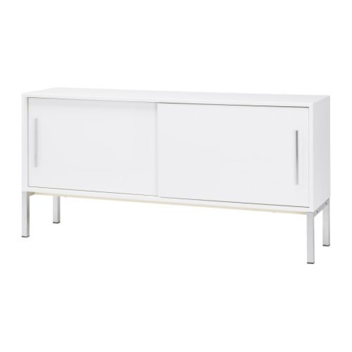 TORSBY Sideboard IKEA Smooth Running Sliding Doors; Space Saving When Open.  2 Adjustable Shelves; Adapt Spacing To Your Storage Needs.