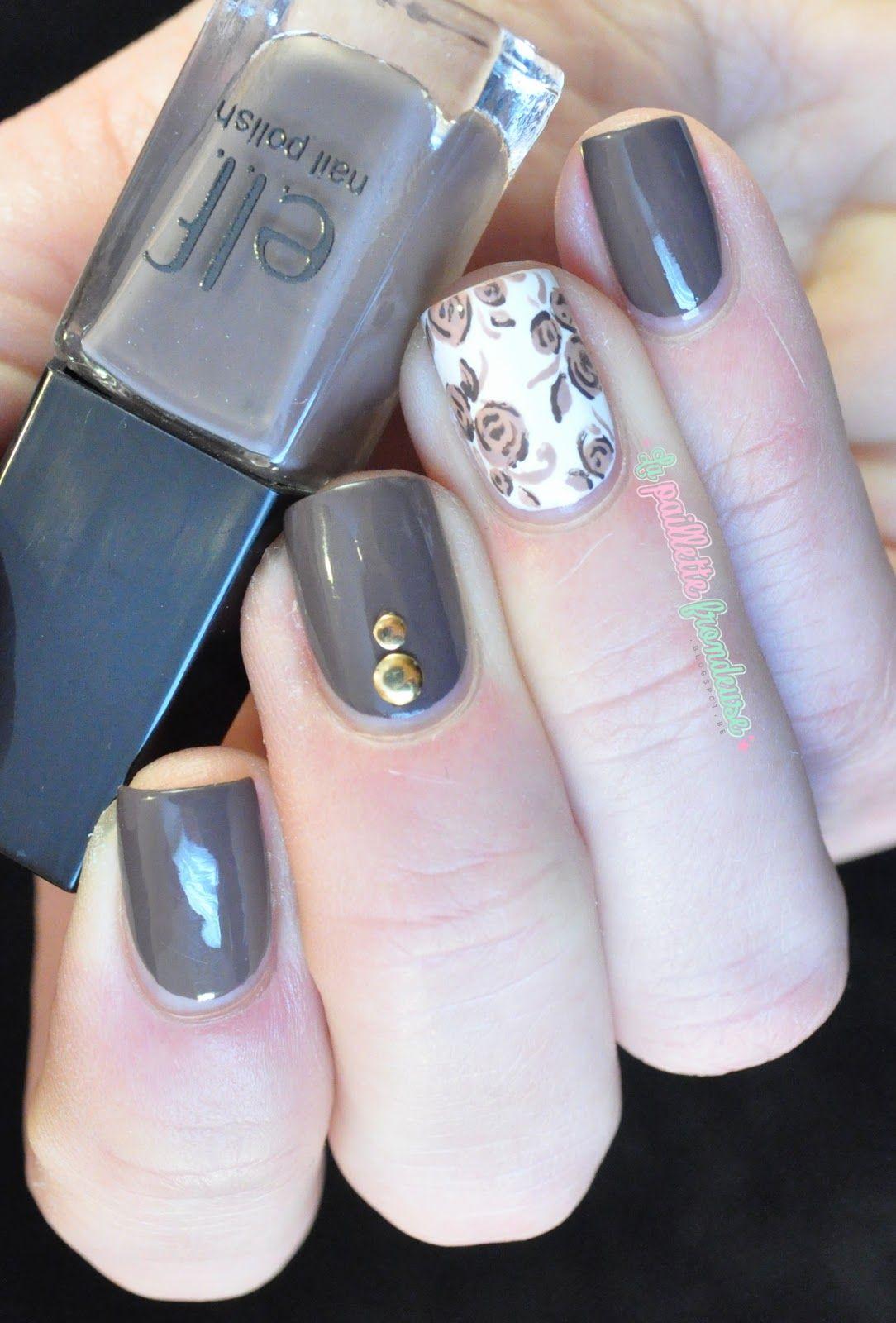 Elf trio Nice and natural // Roses vintage | Diseños de uñas ...