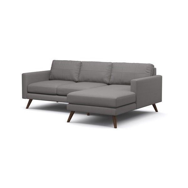 True Modern Dane 90 Inch Sofa With Chaise 2 950 Liked On