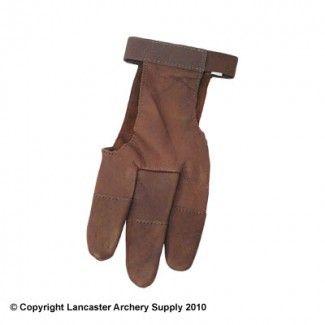 Damascuss Leather Archery Shooting Glove