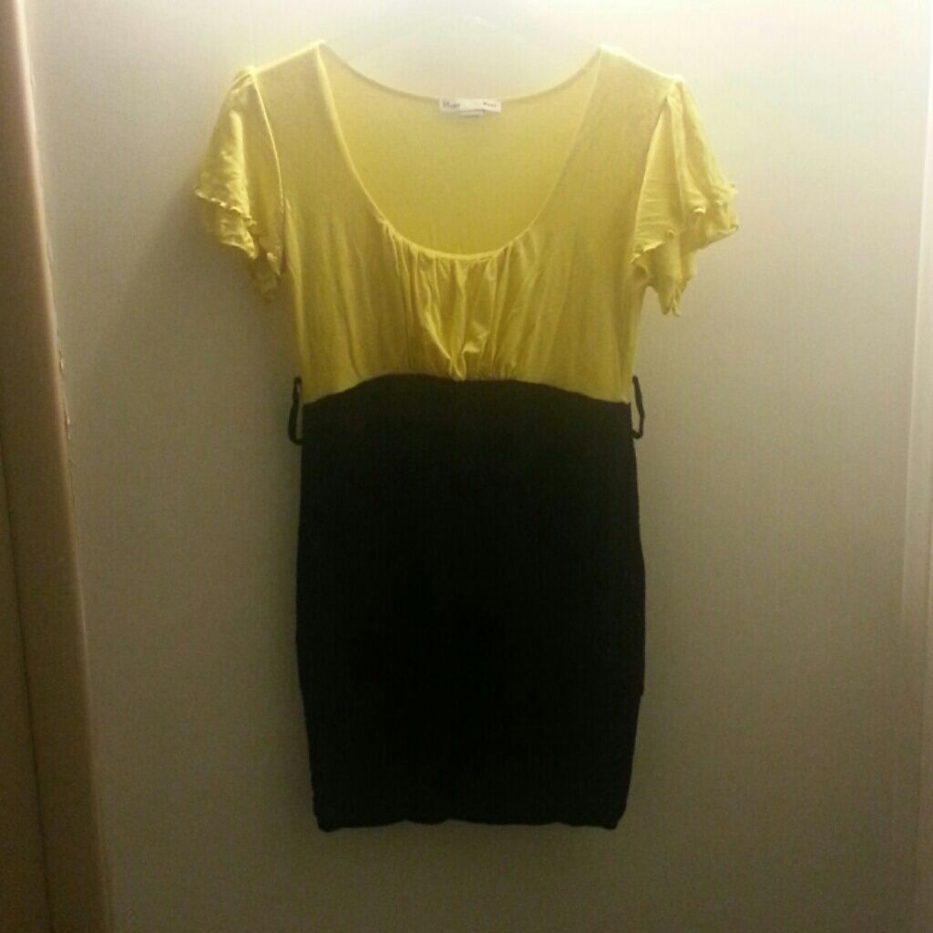 Black and yellow one piece dress products