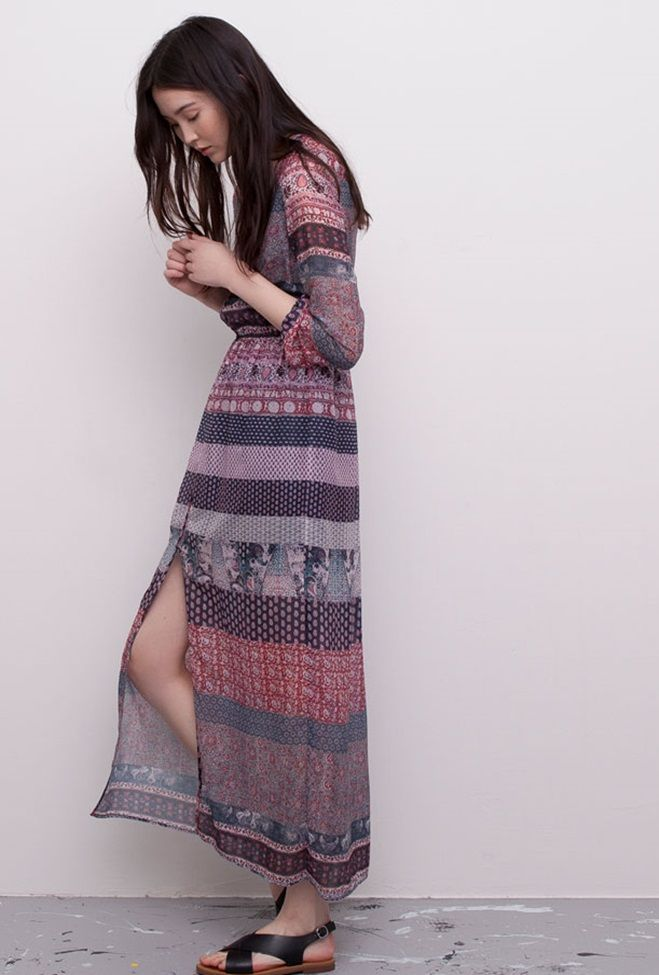 Nueva Colección De Vestidos Para Primavera Verano 2015 En Pull And Bear Vestidos Primavera Vestido Largo Boho Vestido Maxi