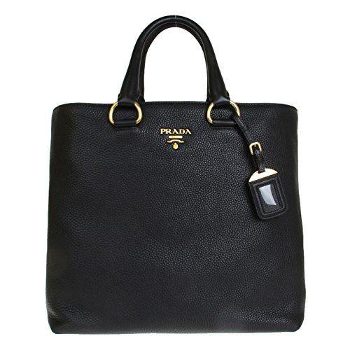 645b4c6fc87705 Prada Tessuto Saffian Nylon and Leather Shopping Tote Bag BR4253, Black /  Nero: Handbags: Amazon.com