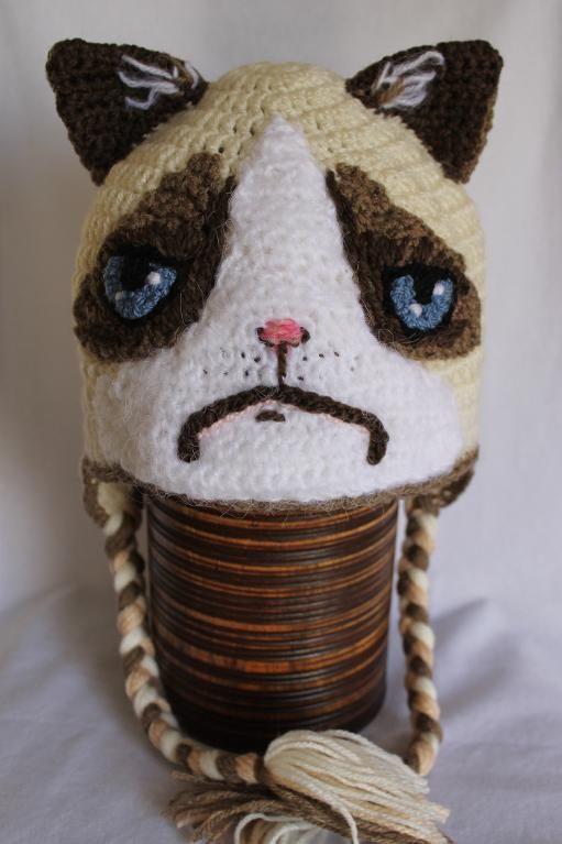 Crocheting: Grumpy cat hat | Hats, Etc | Pinterest | Beanie, Hüte ...