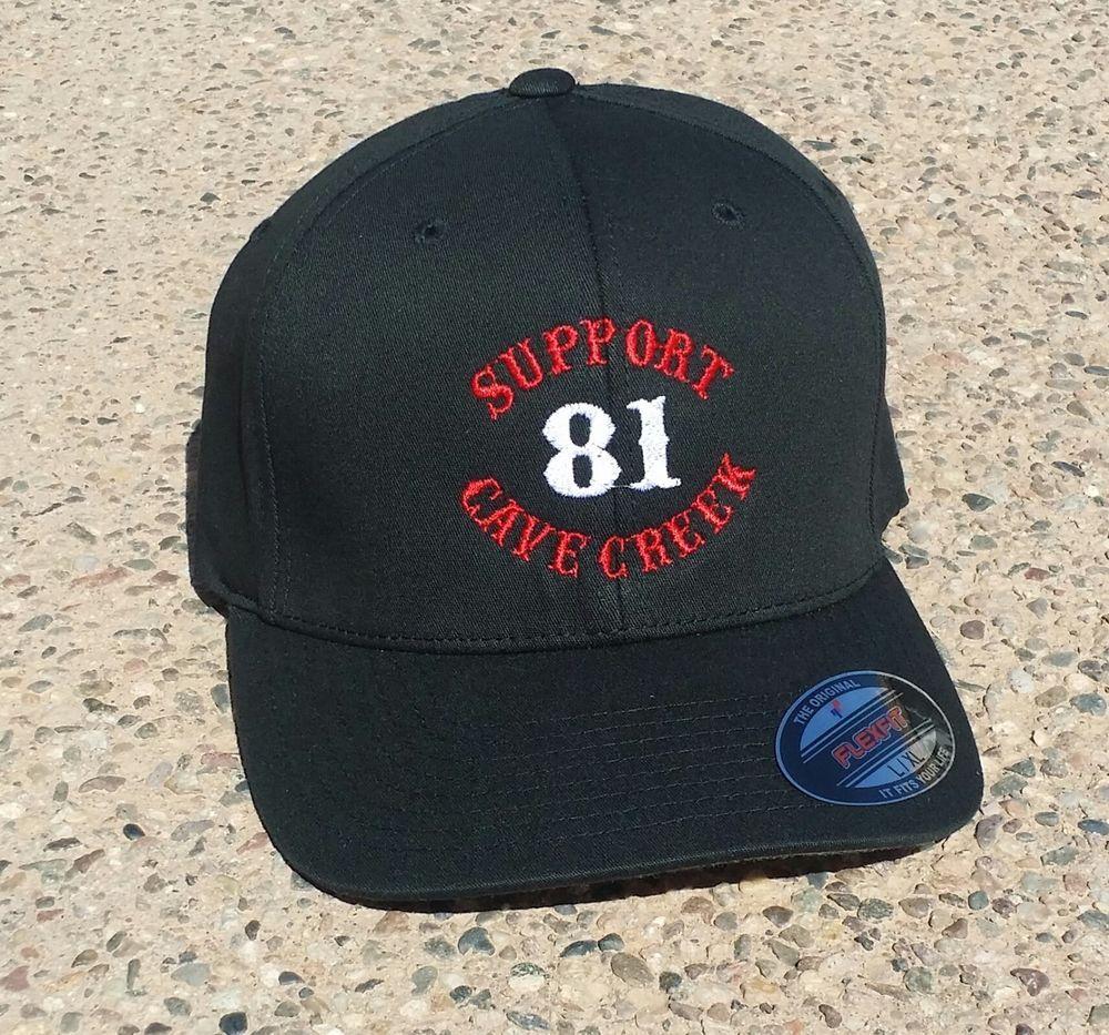 Hells Angels CaveCreek Black 81 Support Cap NEW