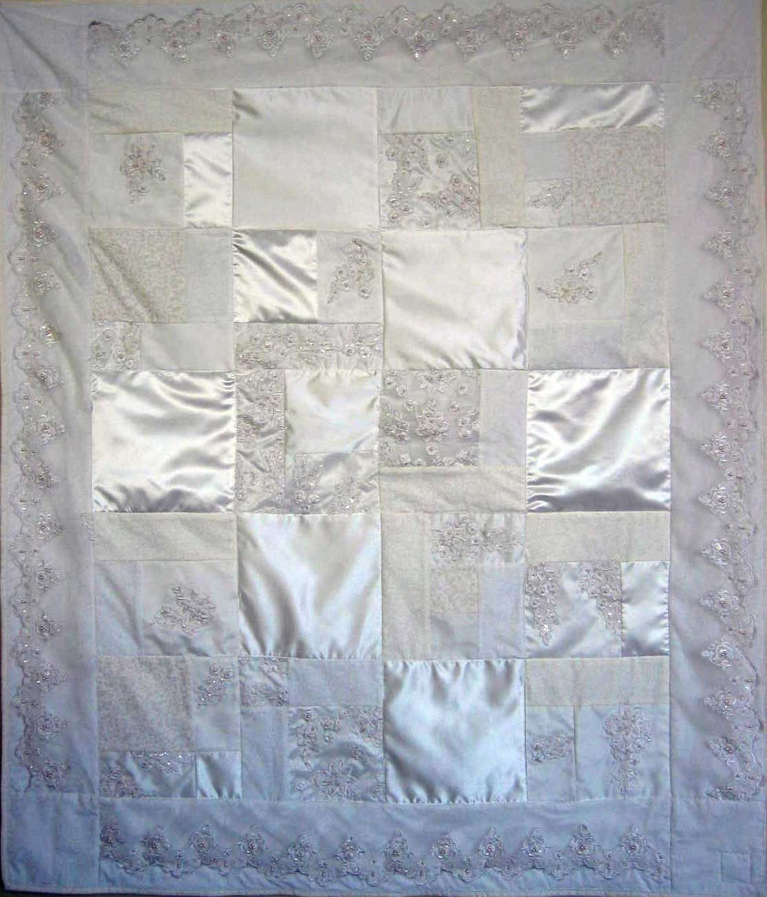 Patchworkbear Turn Your Wedding Dress Into A Beautiful Handmade Quilt Will Be
