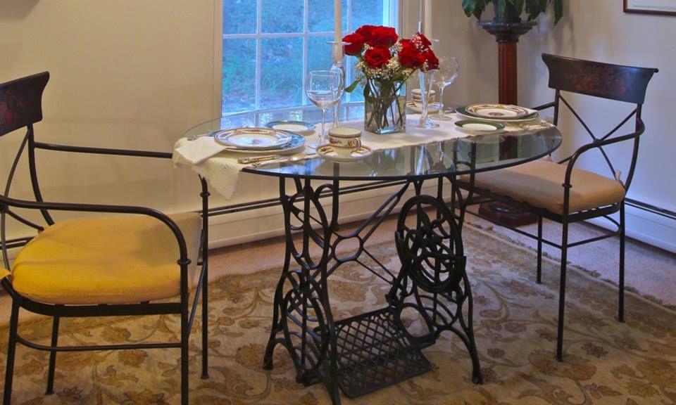 Mesa jantar redonda p de m quina costura pinterest - Mesas para costura ...