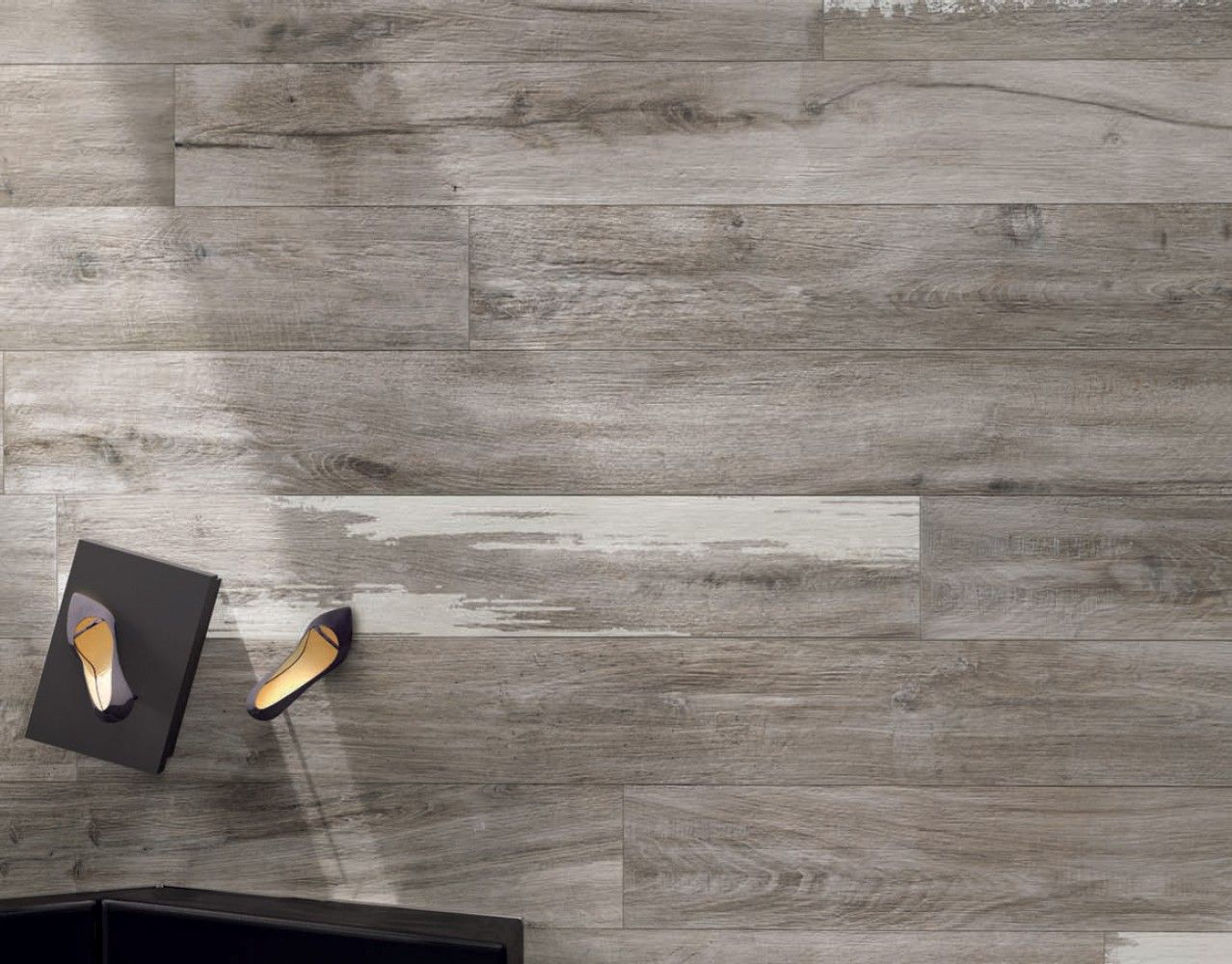 Ariana Legend Grey 8 In X 48 Porcelain Wood Look Tile