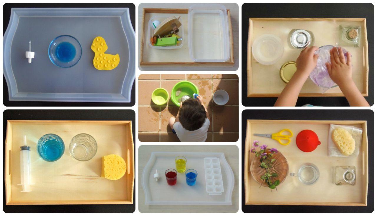 7 Actividades Montessori con agua - 7 Montessori activities with water http://www.montessoriencasa.es/7-actividades-montessori-agua/