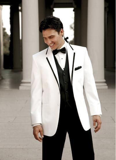 2015 Custom Made White Men's Suits Groom Tuxedos With Tie Business ...