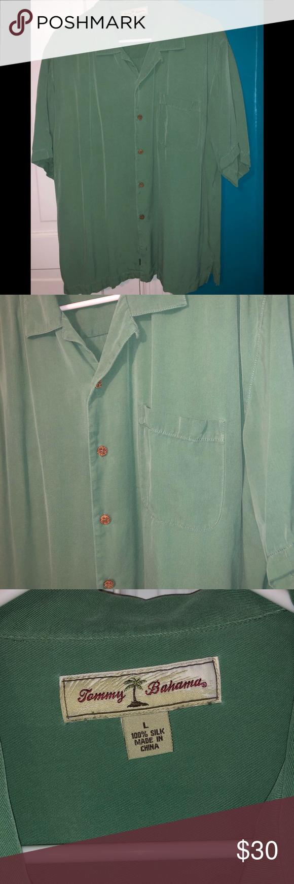 Men S Tommy Bahama Shirt Sage Green Sage Green Tommy Bahama Shirt Size Large 100 Silk Gently Wo Tommy Bahama Shirts Casual Shirts For Men Casual Shirts