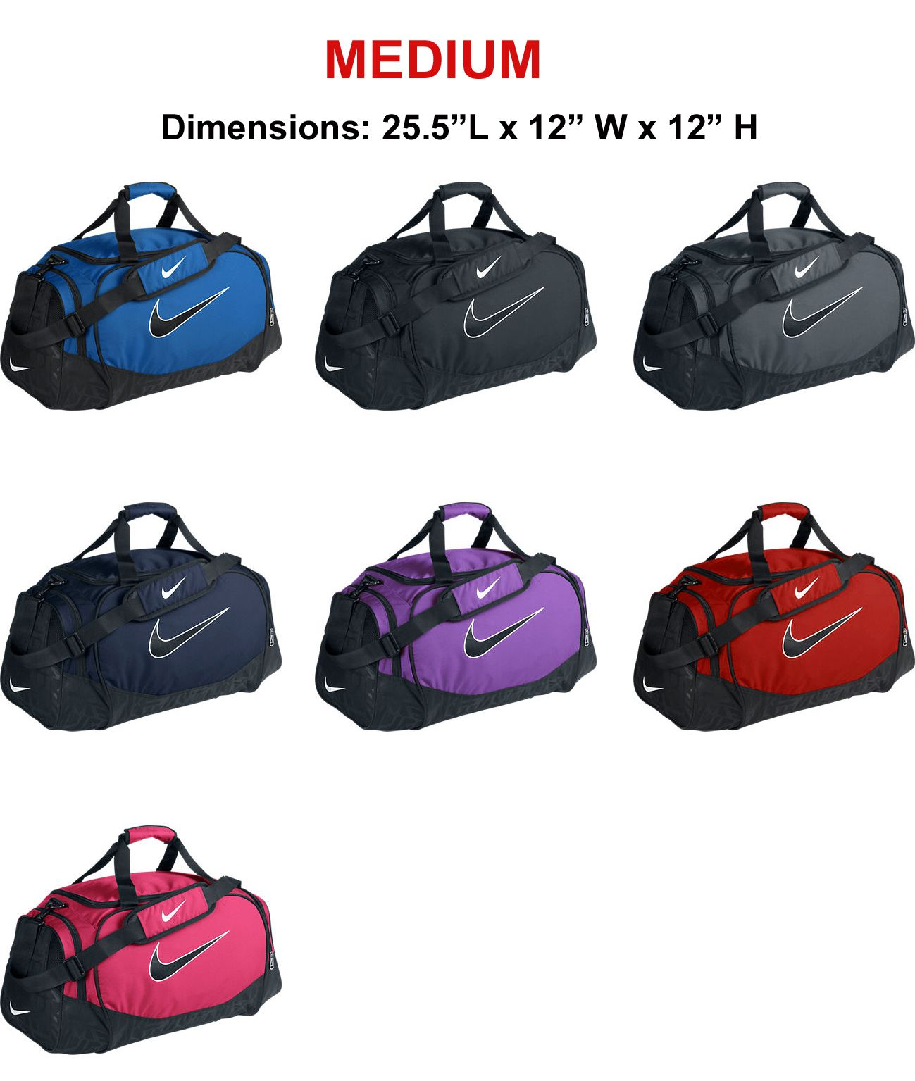 Nike Brasilia 5 Medium Duffel Bag Grip