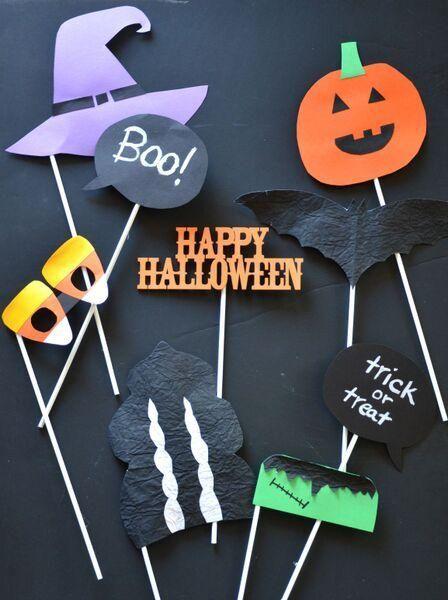 Diy Halloween Photo Booth Holiday Halloween Fall Halloween