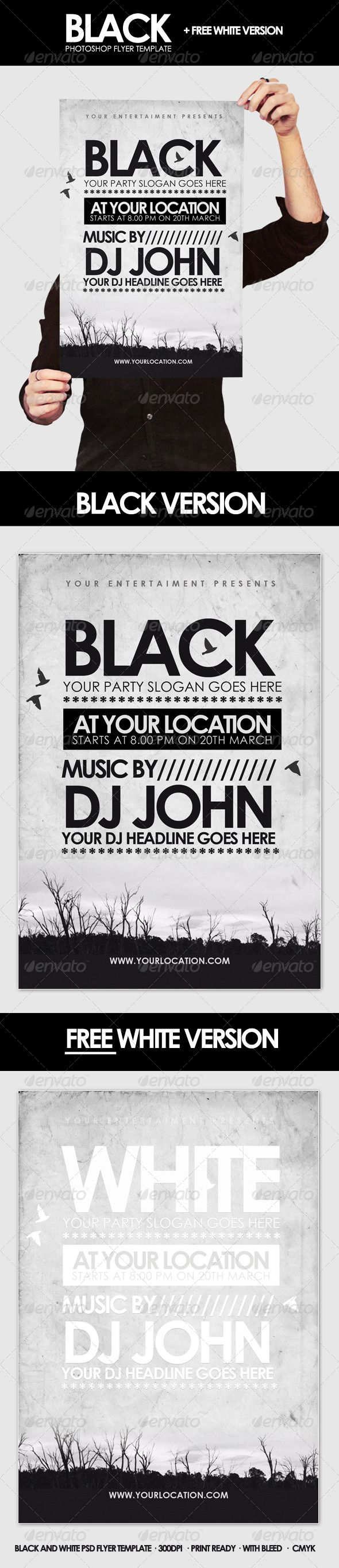 Print Templates - Black - Flyer Template | GraphicRiver | Wildly ...