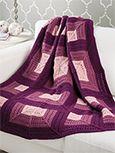 Shadowbox Afghan - Knit - Mitered squares