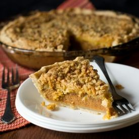 This is a combination of our two favorite recipes... pumpkin pie and pumpkin dessert!