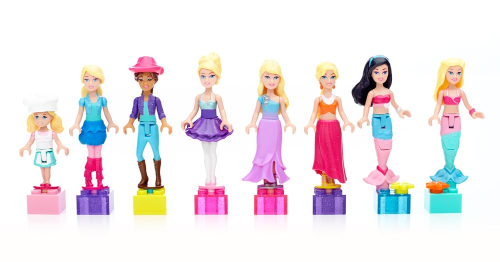 Discover all your favorite fashion friends with the new Mini Fashion Figure assortment by Mega Bloks Barbie™. Collect each buildable character in the most fashionable outfits, which you can mix and match for endless fun. Each figure comes with highly detailed themes and block perch in a complimentary color. Play with them on their own or in combination with other Mega Bloks Barbie™ sets. Ideal for ages 4 and up Features: Eight different mini fashion figures, sold separately Includes: Mermaid…