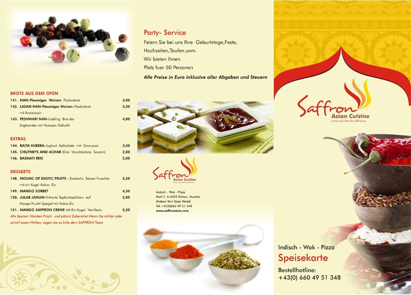 Our designers put in all their effort and dedication towards - food brochure