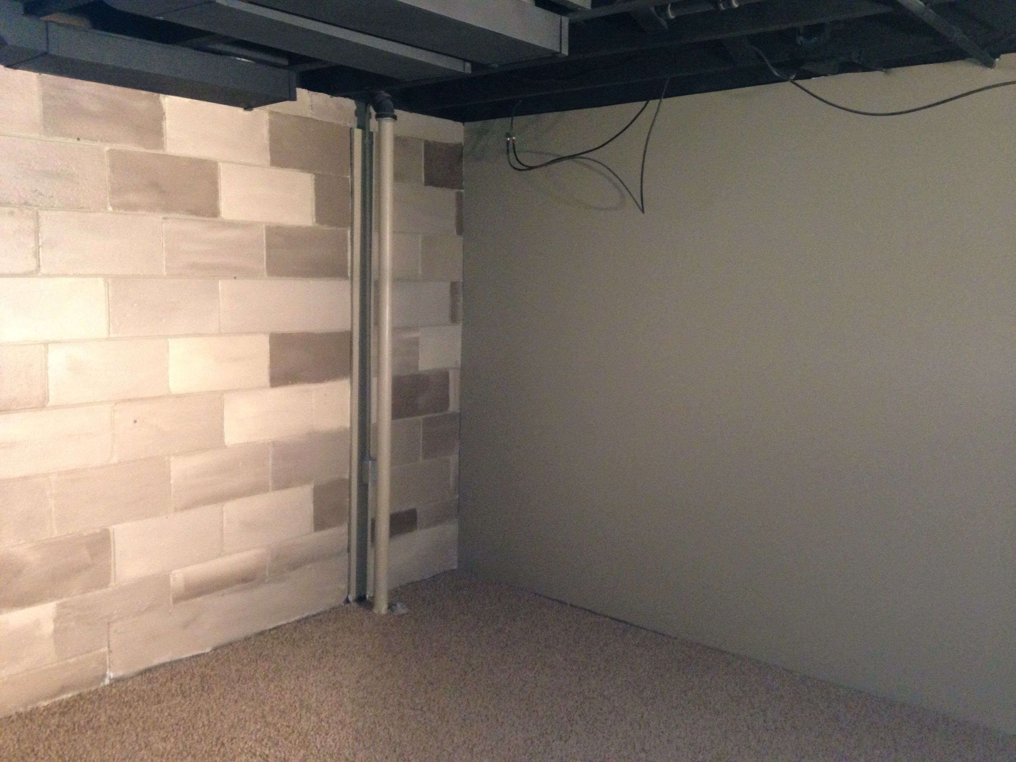 Paint Cinder Block Wall Painted Cinder Block Our Creations Pinterest Basements