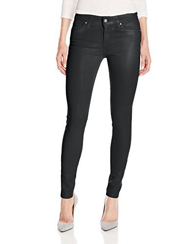 Joe's Jeans Women's Mid Rise Skinny Coated Jean In Grey Skies   Joe's Jeans Women's Mid Rise Skinny Coated Jean In Grey Skies Coating process lends a sleek sheen and a stylish faux-leather look. Lightweight, soft 9 oz stretch denim. Tonal hardware. Leather logo patch set at back pocket. Five-pocket design. Belt-loop waistband. Zipper fly and button closure. 42% lyocell, 33% cotton, 15% rayon, 9% polyester, 1% spandex. Machine wash and line dry. Imported.  http://www.findjean.com/jo..
