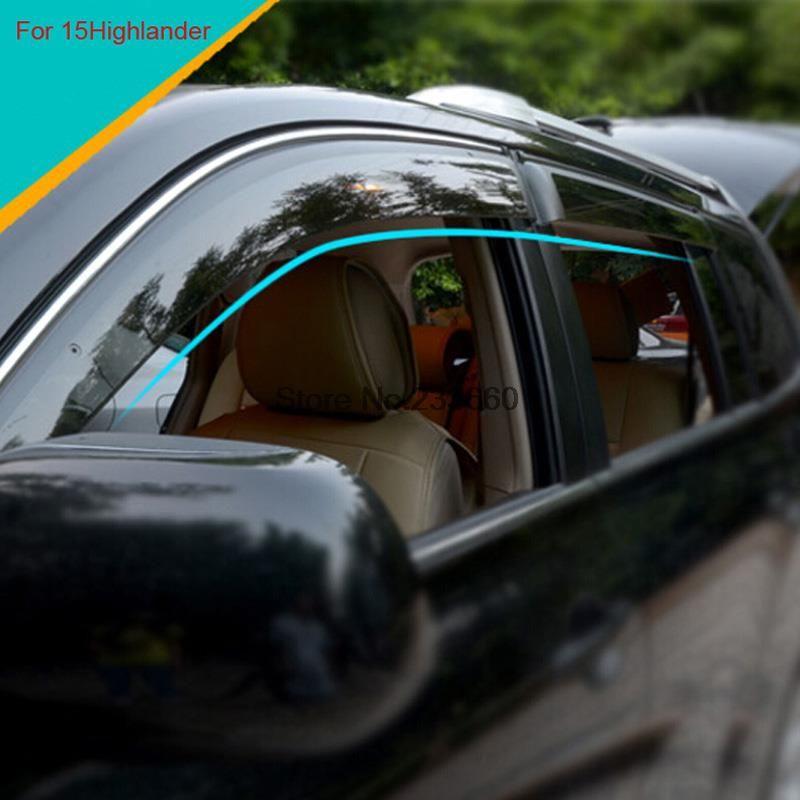 2pc Rear View Mirror Anti-rain Cover Guard Shade For Toyota Highlander 2015-2017