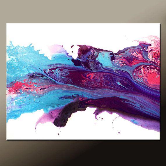Abstrakte Leinwand Kunst Malerei 40 x 30 von wostudios auf Etsy ...